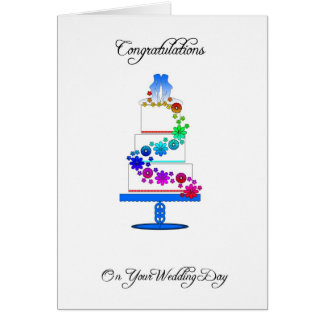 lesbian congratulations Greeting Card with wedding