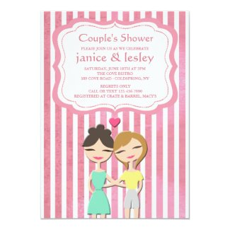 Lesbian Couple Shower Invitation