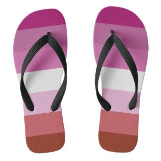 Lesbian Flag Shoes Flip Flops