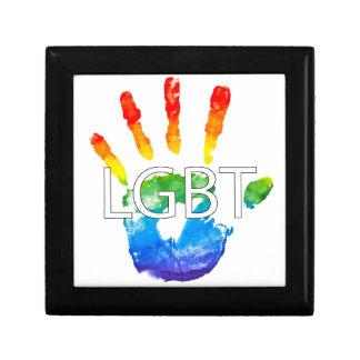 Lesbian Gay BiSexual Transgender LGBT Pride Keepsake Box