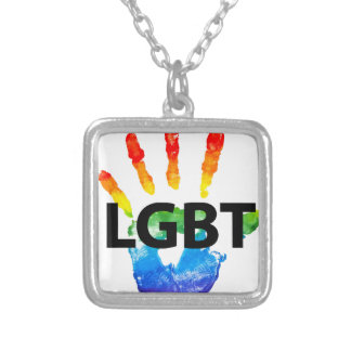 Lesbian Gay BiSexual Transgender LGBT Pride Silver Plated Necklace
