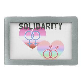 Lesbian Gay Solidarity Belt Buckle