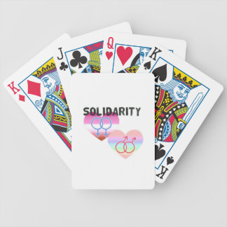Lesbian Gay Solidarity Bicycle Playing Cards