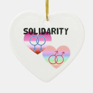 Lesbian Gay Solidarity Ceramic Ornament