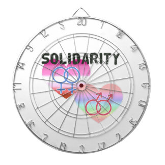 Lesbian Gay Solidarity Dartboard