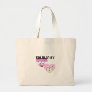 Lesbian Gay Solidarity Large Tote Bag