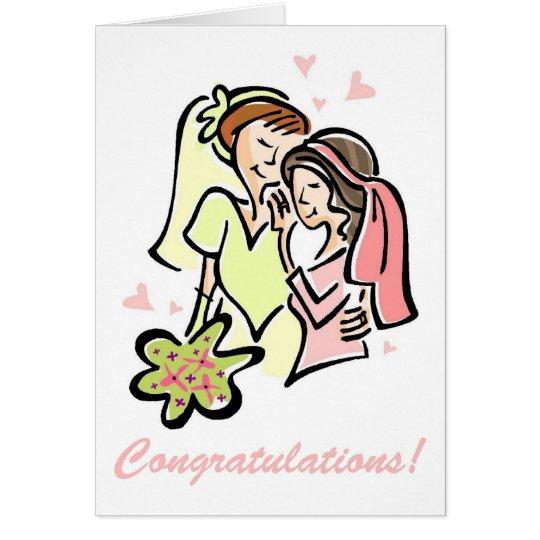 Lesbian Gay Wedding Cards - Blank