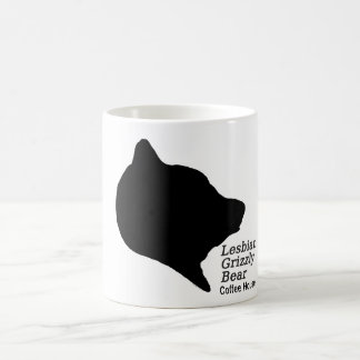 Lesbian Grizzly Bear Coffeehouse Coffee Mug
