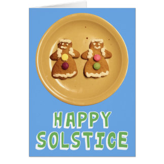 """Lesbian """"Happy Solstice"""" Card (with message)"""