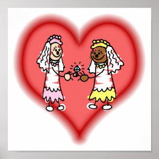 Lesbian Interracial Brides Posters
