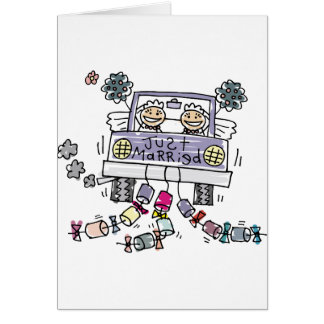 Lesbian Just Married Cards