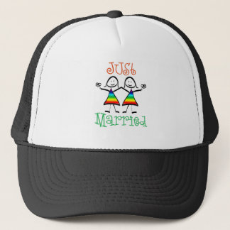 Lesbian Just Married Trucker Hat