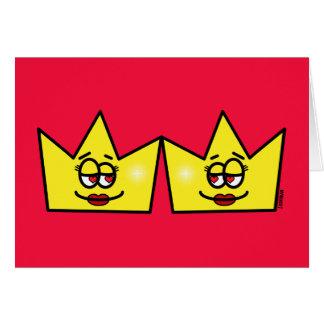 Lesbian Lesbian Queen Queen Crown Coroa Card