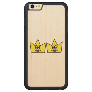 Lesbian Lesbian Queen Queen Crown Coroa Carved Maple iPhone 6 Plus Bumper Case