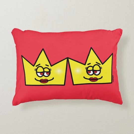 Lesbian Lesbian Queen Queen Crown Coroa Decorative Pillow