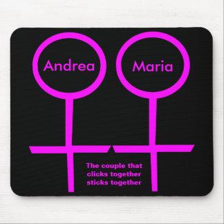 Lesbian Lovers Customizable Mousepad