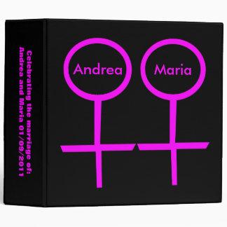 Lesbian Lovers Customizable Wedding Album Binder