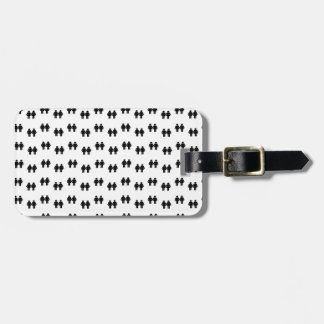 Lesbian lovers wallpaper luggage tag