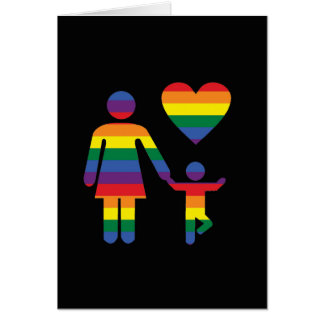 Lesbian mum with child from Bent Sentimetns Card