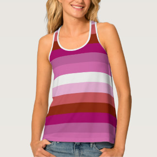 Lesbian Pride Flag Colors LGBT Tank Top