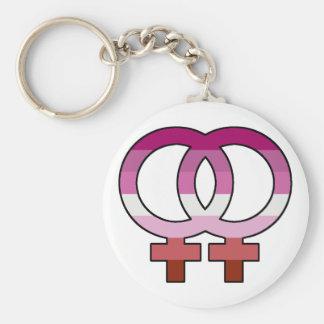Lesbian Pride Flag Venus Symbol Keychain