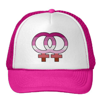Lesbian Pride Flag Venus Symbol Trucker Hat