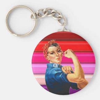 Lesbian Pride Keychain