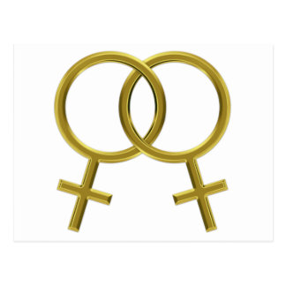 Lesbian Union, Venus Symbols, Female Couple Women Postcard