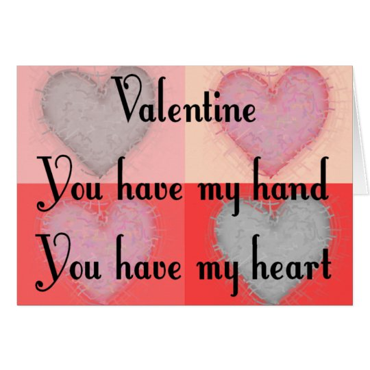 """Lesbian Valentine Gifts """"You Have My Heart"""" Card"""