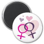 Lesbian Venus Entwined Refrigerator Magnet