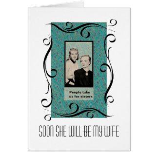 Lesbian Wedding Celebration Card