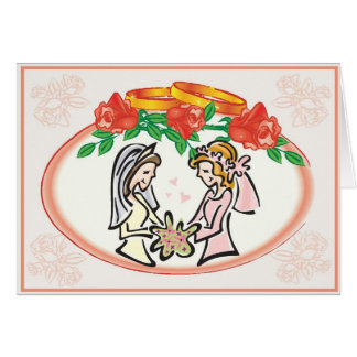 Lesbian Wedding or Commitment Ceremony Card