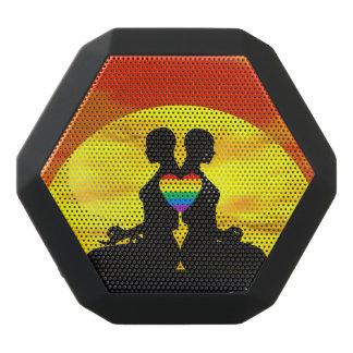 Lesbian yoga love - 3D render Black Bluetooth Speaker