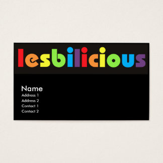 Lesbilicious Business Cards