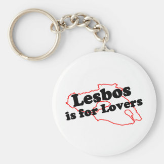 Lesbos Is For Lovers Basic Round Button Keychain