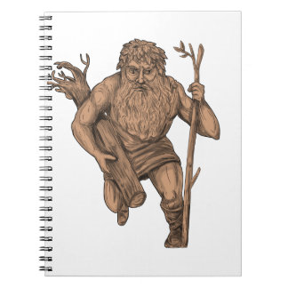 Leshy Tree Runk Staff Tattoo Spiral Notebook