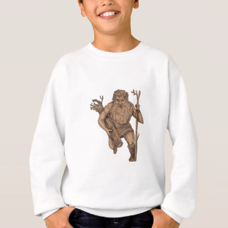 Leshy Tree Runk Staff Tattoo Sweatshirt