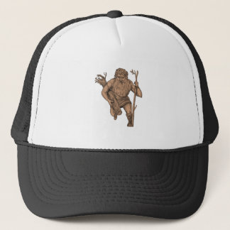 Leshy Tree Runk Staff Tattoo Trucker Hat