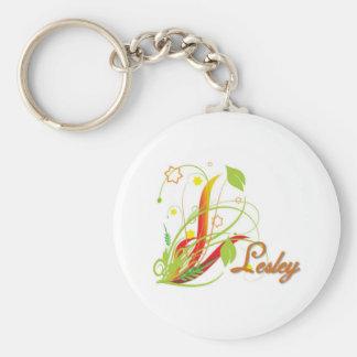 Lesley Basic Round Button Keychain