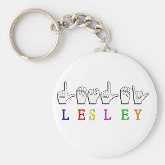 LESLEY FINGERSPELLED ASL NAMESIGN KEYCHAIN