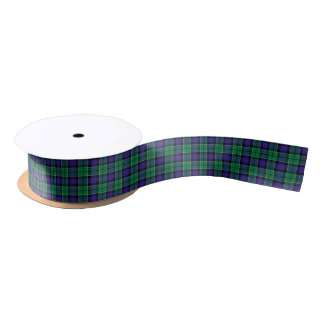 Leslie Clan Hunting Tartan Satin Ribbon