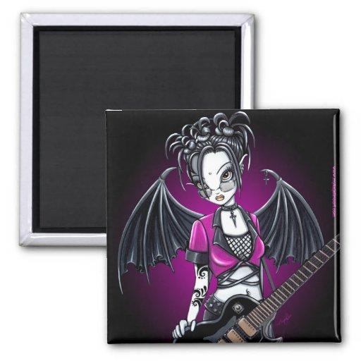 """Leslie"" Gothic Guitar Fairy Art Magnet"