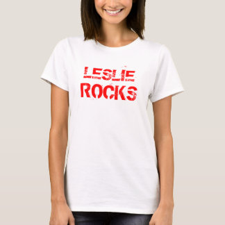 LESLIE, ROCKS Tee Shirts