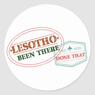 Lesotho Been There Done That Classic Round Sticker