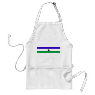 Lesotho country long flag nation symbol republic standard apron