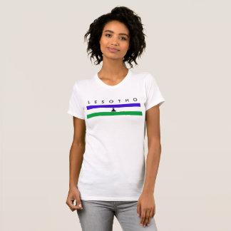 Lesotho country long flag nation symbol republic T-Shirt