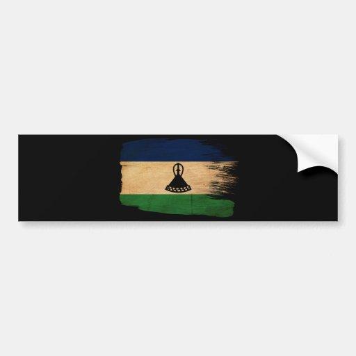 Lesotho Flag Bumper Stickers