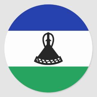 Lesotho Flag Classic Round Sticker