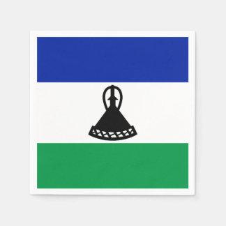 Lesotho Flag Disposable Napkin