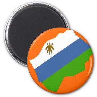 Lesotho flag map magnet